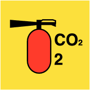 Co2 fire extinguisher (sticker)