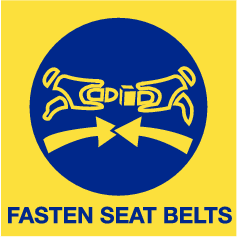 Fasten seat belts (sticker)