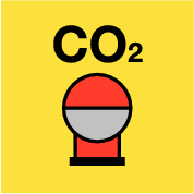 Fixed Co2 ext. bottle in protected area (sticker)