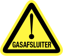 Gasafsluiter (sticker)