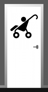 Transfer kinderwagen (sticker)