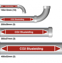 "Leidingmarkering sticker ""CO2 Blusleiding"""