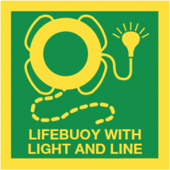 Lifebuoy with light and line (sticker fotoluminescerend)
