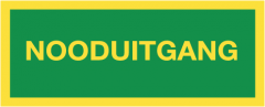 Nooduitgang (sticker fotoluminescerend)