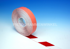 PermaStripe PVC 1mm, rood/wit 75mm