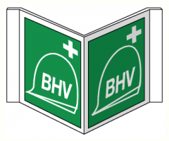 Panorama bord met pictogram BHV (NEN 3011)