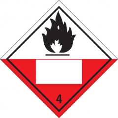 Sticker met pictogram Spontaneously combustible IMO 4.2