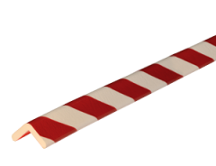 Stootband Type H rood/wit 1mtr