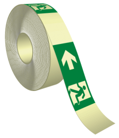 Tape fotoluminescerend nooduitgang links ISO 7010