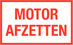 Motor afzetten (bordje)