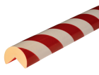 Stootband Type A+ rood/wit 1mtr