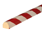 Stootband Type CC rood/wit 1mtr