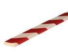 Stootband Type F rood/wit 1mtr